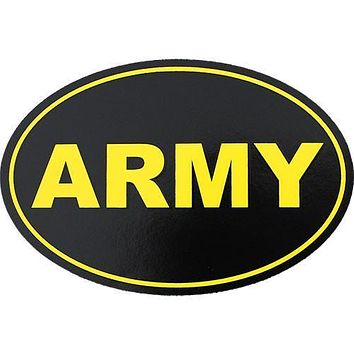 Army Oval Euro Style Decal