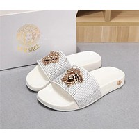 Versace large LOGO Lazy slippers