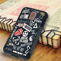 punk black band All time low the beatles bring me the horizon   For Samsung Galaxy S5 Cases   Free Shipping   AH0429