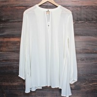 let loose gauze flowy tunic top