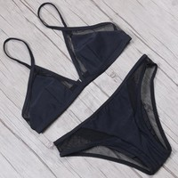 Bikini Set beach body TQSKK 2018 New Sexy Mesh Bikinis Women Swimsuit Female Swimwear  Summer Swimming Wear Bathing Suit Swim Wear Biquini