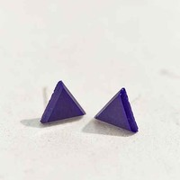 Diament Jewelry X Urban Renewal Navy Triangle Stud Earring