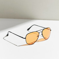 Good Vibes Aviator Sunglasses | Urban Outfitters