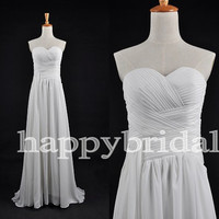 Long White Lovely Sweetheart Prom Dresses A line Party Dresses Bridesmaid Dresses Homecoming Dresses 2014 Wedding Occasions