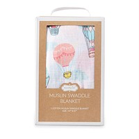 MUD PIE BALLOON MUSLIN SWADDLE BLANKET