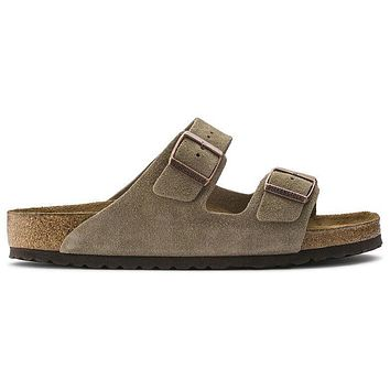 Birkenstock Arizona Soft Footbed Suede Leather Taupe 0951301/0951303 Sandals -