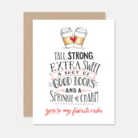 You're My Favorite Order - A2 Note Card
