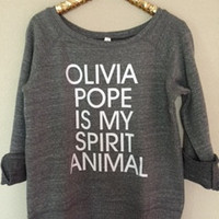 Olivia Pope is my Spirit Animal - Scandal - Ruffles with Love - Off the Shoulder Sweatshirt - Womens Clothing - RWL