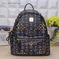 MCM Sport Travel Backpack College School Bag Laptop Bag Bookbag