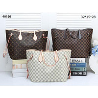 LV 2019 new inside with a small hook children's shopping bag two-piece