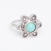 FLOWER TURQUOISE STONE RING