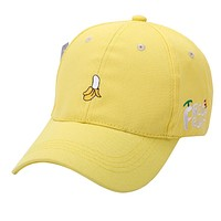 Fashion Cap Women Men Summer Spring Unisex Fruit Embroidered Hat Adjustable Baseball Cap snapback Hat For Dropshipper