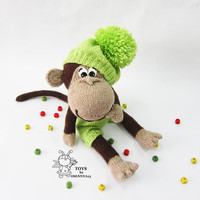 Naughty monkey-knitting pattern (knitted round)