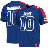 Eli Manning New York Giants NFL Mens Hashmark Jersey Royal Blue Big & Tall Sizes