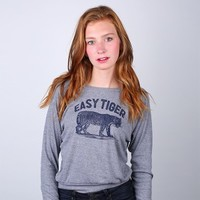 Easy Tiger LS Triblend Top - FLUFFYCO