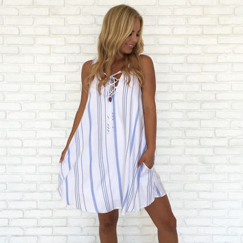 Sweet Summer Stripe Shift Dress