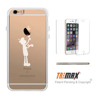 365Printing Tri Max® Apple Painter Clear iPhone Cases Cute Transparent Phone Case