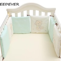6pcs Baby Bed Bumpers Cotton Infant Crib cot Back cushion infant kid Cot Pad Nursery Pillow Protector Newborn Baby Bedding Set