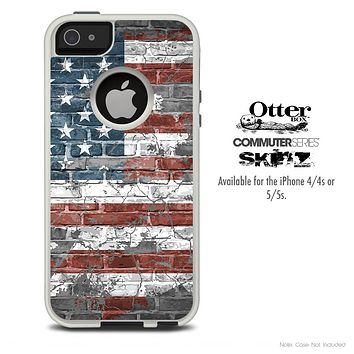 The USA Vintage Flag Skin For The iPhone 4-4s or 5-5s Otterbox Commuter Case