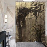 Creative Elephant Series Shower Curtain - Does Not Fade - Polyester - Waterproof - Various styles