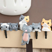 6pcs Random Lovely Cat 3.5mm Anti Dust Earphone Jack Plug Stopper Cap for Mobile Phone = 1929652036