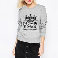 """""""I Solemnly Swear that I am Up To No Good"""" Harry Potter Casual Pullover Sweater -6 Color Options-"""