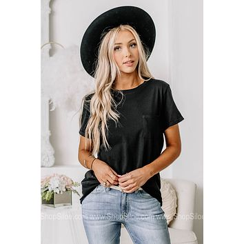 Tell Me What You Want Pocket Top | Black