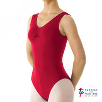 Tappers and Pointers Children's Sleeveless Leotard Ruched front in ISTD Colours