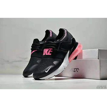 NIKE AIR MAX 270 2018 new rear half palm atmospheric cushion shock absorption sports running shoes Black