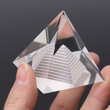 Egypt Egyptian Crystal Clear Pyramid Quartz Natural REIKI Energy Healing Prizm Amulet Feng Shui Ornament For Party Event Home