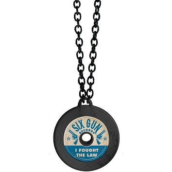 I Fought the Law Record Handmade Necklace