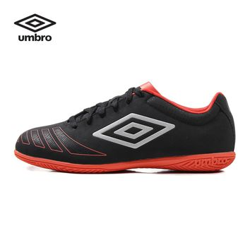 Umbro Men Soccer Shoes Sports Sneaker Indoor Soccer Boots Turf Shoes Leather Lace-up Professional Football Shoes UCB90107