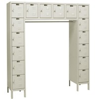 "Hallowell U1788-16A-PT Premium Locker, 72"" Width x 18"" Depth x 78"" Height, 16-Person, Assembled, 729 Parchment"