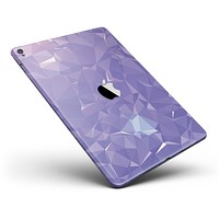 """Light Purple Geometric V13 Full Body Skin for the iPad Pro (12.9"""" or 9.7"""" available)"""