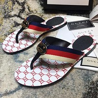 GG thong Web sandal slippers Shoes White
