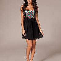 Sequin Top Bandeau outfit - Rare London - Patterned - NELLY.COM