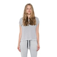 Womens Light Grey Luna Pullover CapSleeve Top By One Grey Day