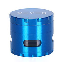 Large Spice Tobacco Herb Weed Grinder - Four Piece with Pollen Catcher - 2.5 Inches - Premium Grade Aluminum