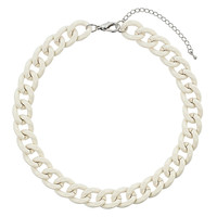 Cream Curb Chain Necklace - Topshop