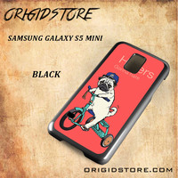 Haters Gonna Hate Pug Bicycle Snap on Black White and 3D Samsung Galaxy S5 Mini Case