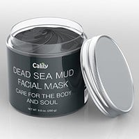 Calily Premium Dead Sea Mud Mask 8.8 Oz. - Organic Deep Skin Cleanser – Face and Body Treatment – Eliminates Acne, Wrinkles, Cellulite - Cleanses Pores, Rejuvenates Skin for Youthful Glow
