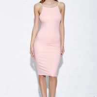 Matea Designs A STAR IN THE SKY Pink Bodycon Dress