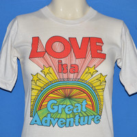 70s Love Great Adventure Six Flags Rainbow t-shirt Extra Small
