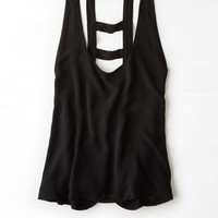 AEO 's Don't Ask Why Bar Back Tank (Black)