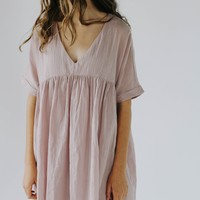 Owen Babydoll Dress (Mauve)