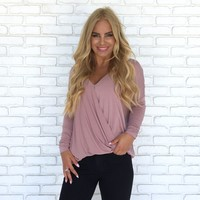 She's a Dream Pink Wrap Blouse