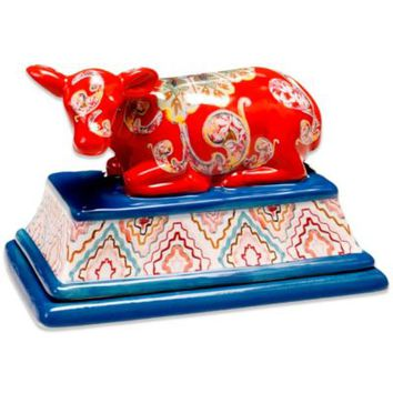Tracy Porter® Poetic Wanderlust® French Meadow 3-D Cow Butter Dish with Lid