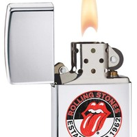 Zippo Rolling Stones 50th Anniversary High Polish Chrome Lighter