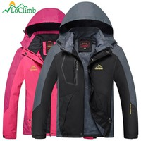 LoClimb Camping Hiking Jackets Women Men Outdoor Climbing Mountain Rain Coat Trekking Sport Windbreaker Waterproof Jacket,AM017