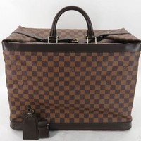 AUTH LOUIS VUITTON N41160 DAMIER GRIAMUD TRAVEL HAND BAG EY713